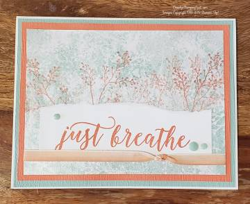 Just Breath Calypso Coral and Mint Macaron Frosted Foral DSP card