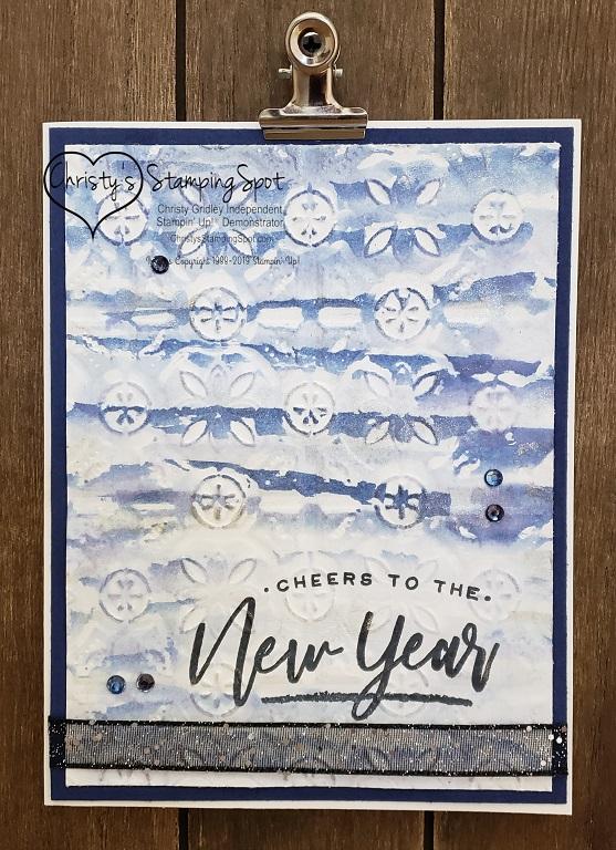 New Year darker Night of Navy Tin Tile  RAK card