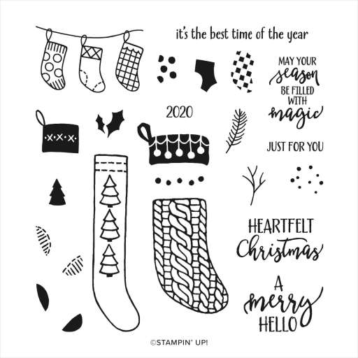 Shop Now link to the A Merry Hello Host Photopolymer stamp set