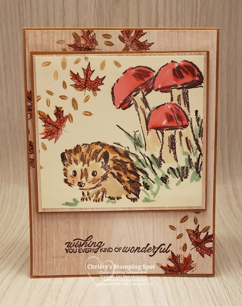 Stampin' Up! Walk in the Woods stamp set, Beautiful Autumn stamp set, and In Good Taste DSP. #WalkintheWoods #BeautifulAutumn #InGoodTasteDSP