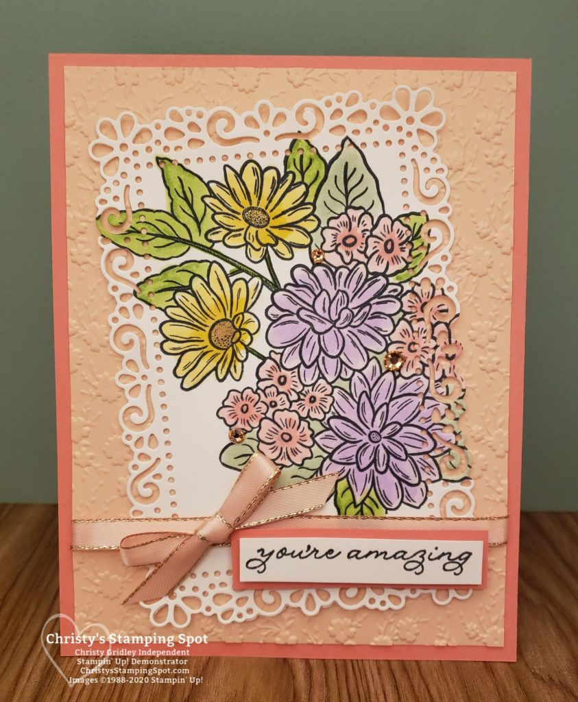 Stampin' Up! Ornate Style Bundle, Ornate Thanks stamp set, and Ornate Floral 3D embossing folder. #OrnateGarden #OrnateStyle #OrnateThanks