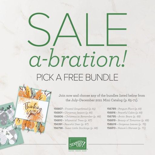 Link to the Sale-A-Bration Joining Special free Bundle PDF flyer