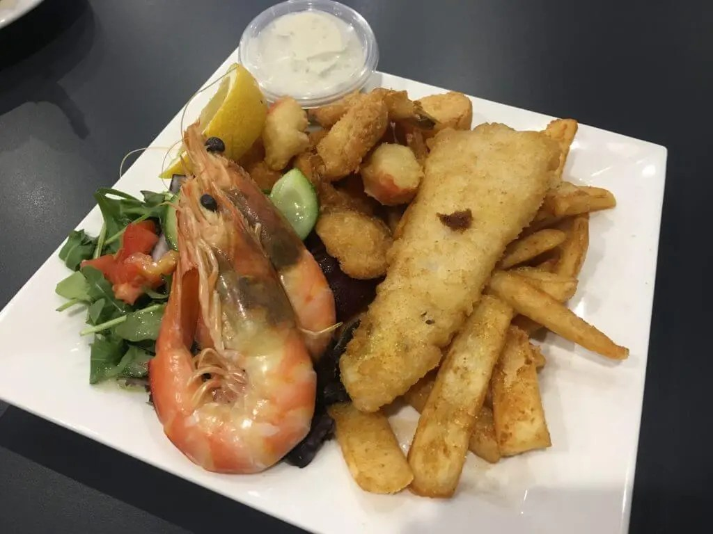Seafood Platter at the Garden Hotel Dubbo