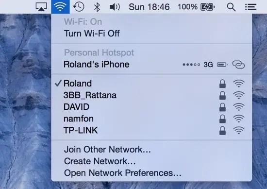 Enable Wi-Fi Mac