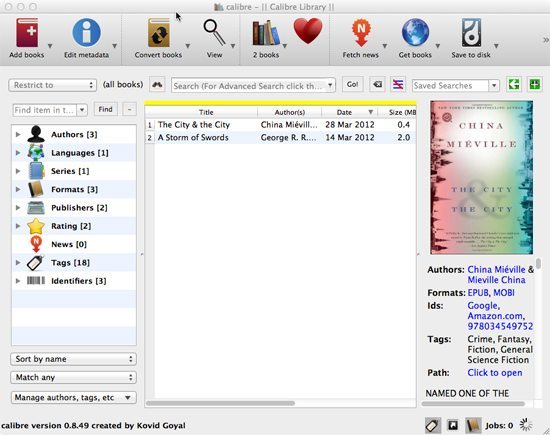Organise the e-book library on your Mac with Calibre