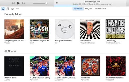 iTunes 12 Menu