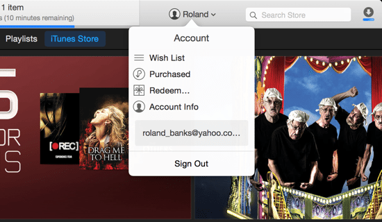 iTunes 12 Account