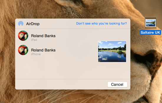 How to share files using AirDrop on OS X Yosemite