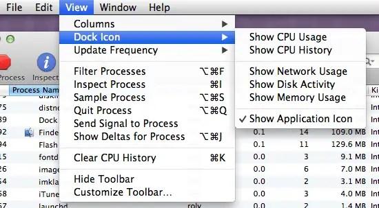 Activity Monitor - Dock Icon Options