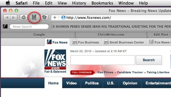 Fox News extension screenshot