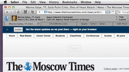 The Moscow Times Screenshot