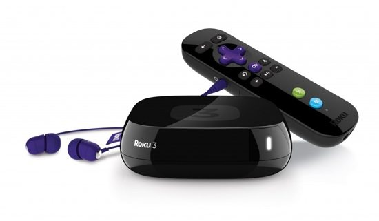 The Roku user interface has hundreds of channels available