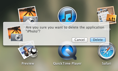 Deleting unused applications is easy in Mac OS X