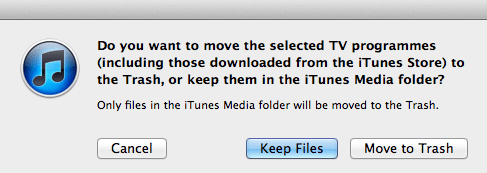 Delete Files iTunes
