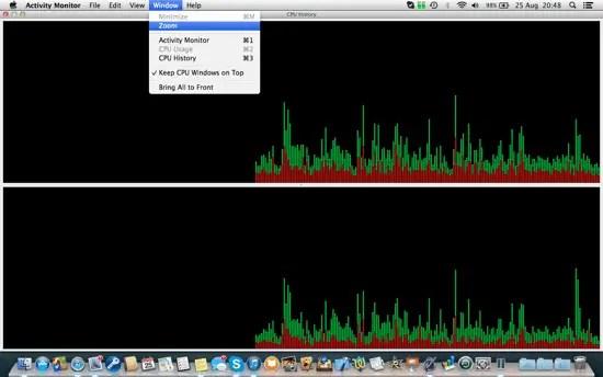 Activity Monitor CPU History
