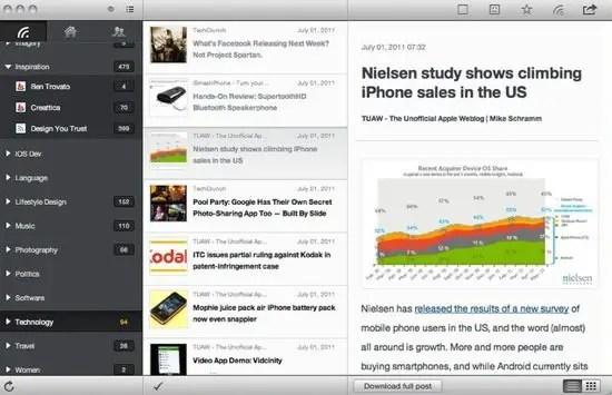 MobileRSS Screenshot