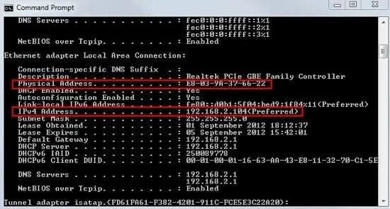 PC IP Address