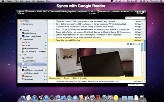 RSS Ticker Screenshot