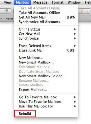 Rebuild Mail menu