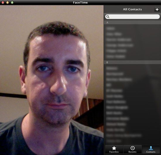 FaceTime Contacts