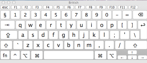 what font is on mac keyboard