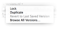 Autosave in Mac OS X Lion