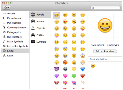 Emoji Character Viewer