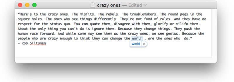 crazy ones autocorrect