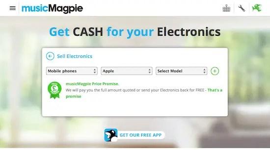 music magpie screenshot