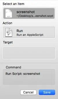 select an item script
