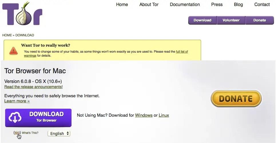 tor browser sig