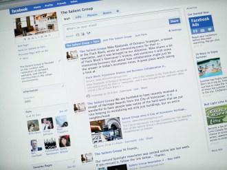 Salient Group website - Facebook page