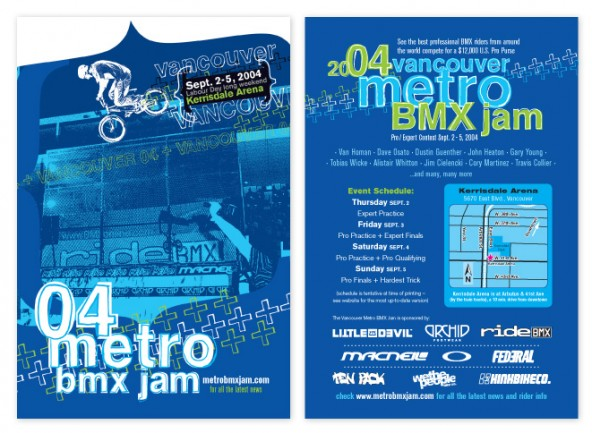 "2004 Vancouver Metro Jam 4"" x 6"" postcards, featuring Dustin Guenther."