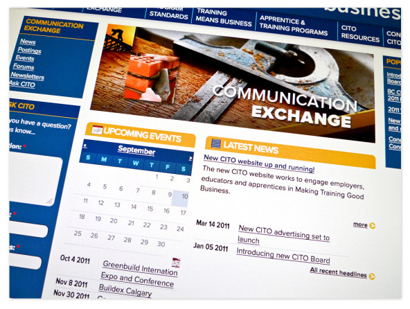 Detail of the Communication Exchange page.