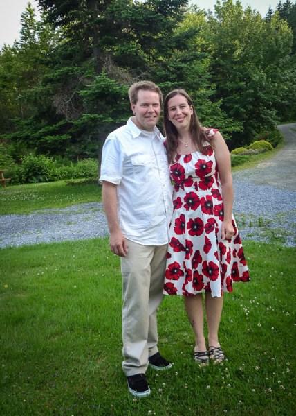 Chris & katie at the wedding