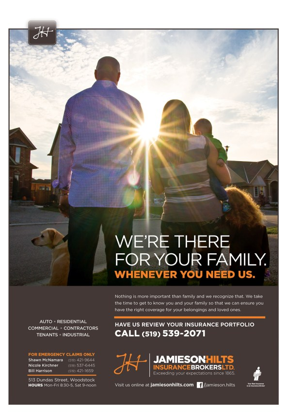 Jamieson-Hilts Insurance full page magazine ad.