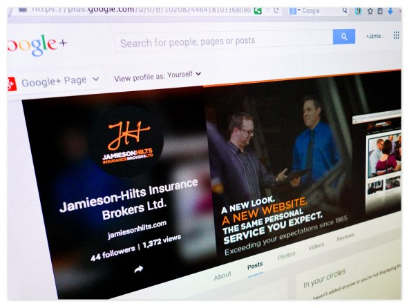 Jamieson-Hilts presence on Google+ announces the new look and website.