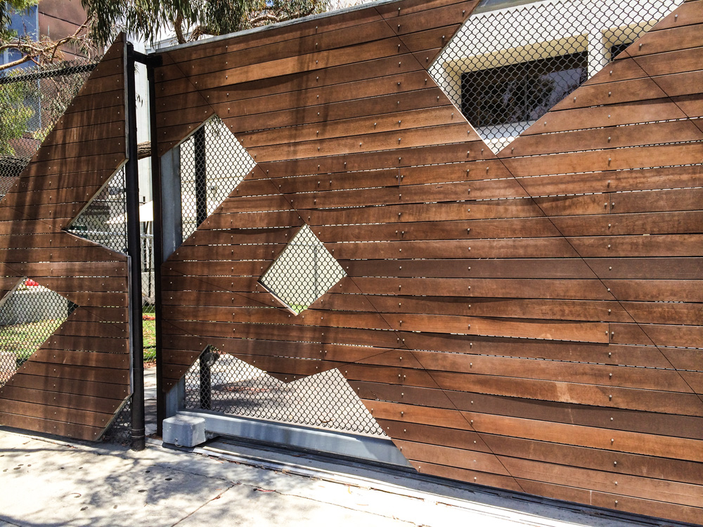 I love the simple design of this fence outside of Google's LA/Venice campus.
