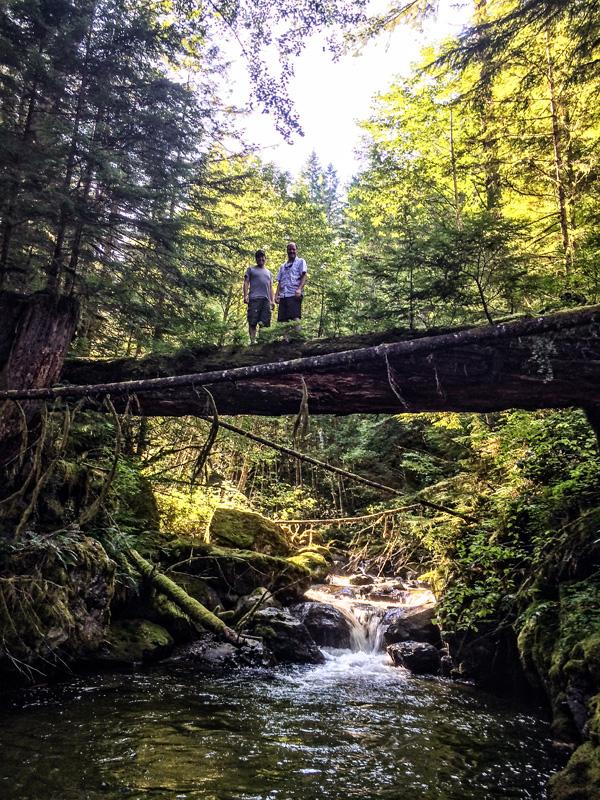 Derek and I up on the tree bridge.