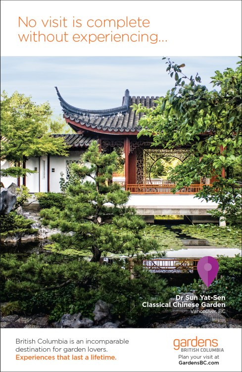 Magazine Ad featuring Dr Sun Yat-Sen Classical Chinese Garden.