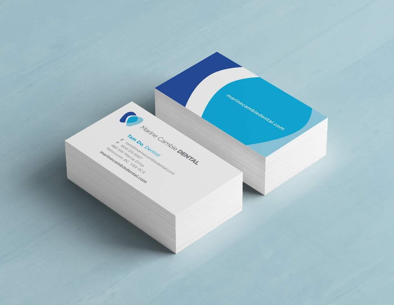 Marine Cambie Dental logo business cards