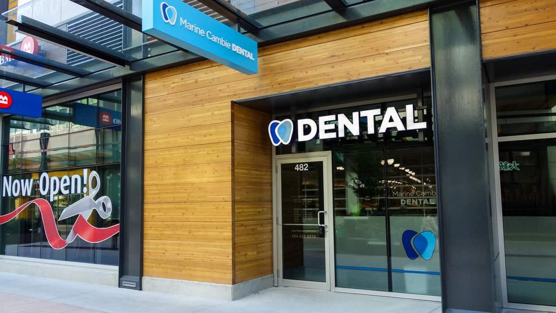 Marine Cambie Dental signage