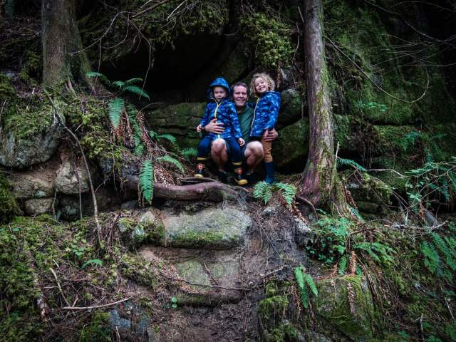 Another forest, another hike, and a new cave we just had to go up and take a look in. No bears!