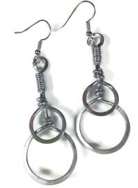 Simple Circle Aluminum Earrings