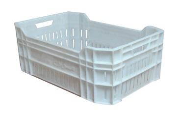 تصنيع-وتوريد-صندوق-بلاستيك-لنقل-الاسماك-لون-ابيض