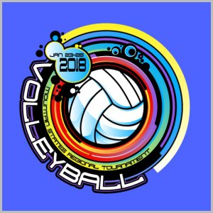Volleyball Shirt Design