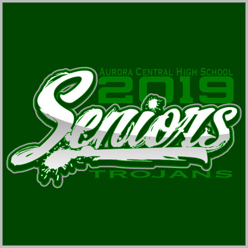 Senior Class Shirt Design with Graphic Distressed Text