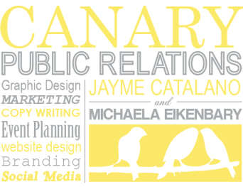 Canary Public Relations Note Card