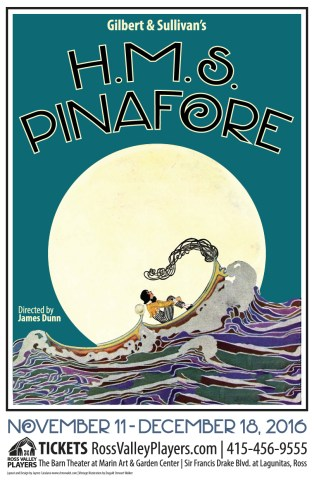 H.M.S. PInafore Poster - Ross Valley Players