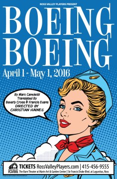 Boeing Boeing Poster - Ross Valley Players